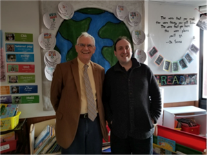 Geoff and 2nd grade Social Studies Resource Reviewer Daniel Lipton