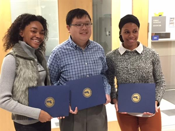 Three BHS students receive Massachusetts Association of School Superintendents Certificate of Excellence